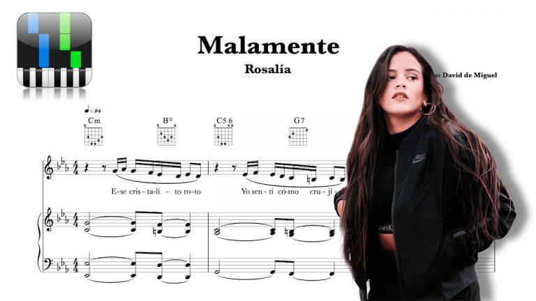 "Partitura Piano ""MALAMENTE"" | Rosalía"