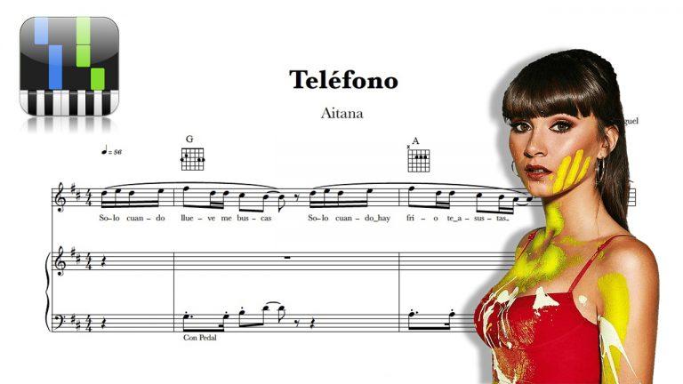 "Partitura Piano ""Teléfono"" Aitana"