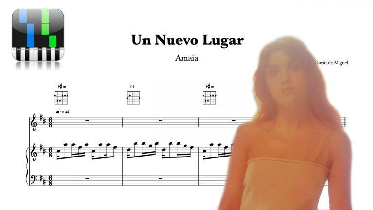 Partitura UN NUEVO LUGAR - Amaia Romero
