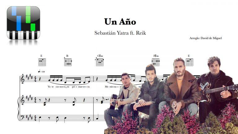 Partitura Un Año Sebastián Yatra & Reik