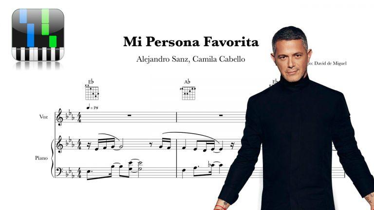 Mi Persona Favorita Partitura y Acordes Alejandro Sanz