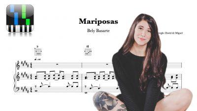 Mariposas Bely Basarte Partitura Piano