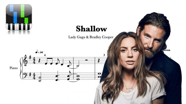 Partitura Piano Shallow Lady Gaga