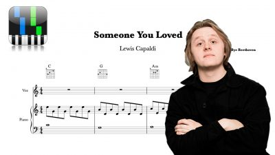 Someone You Loved | Lewis Capaldi Partitura Piano y Voz + Acordes Guitarra
